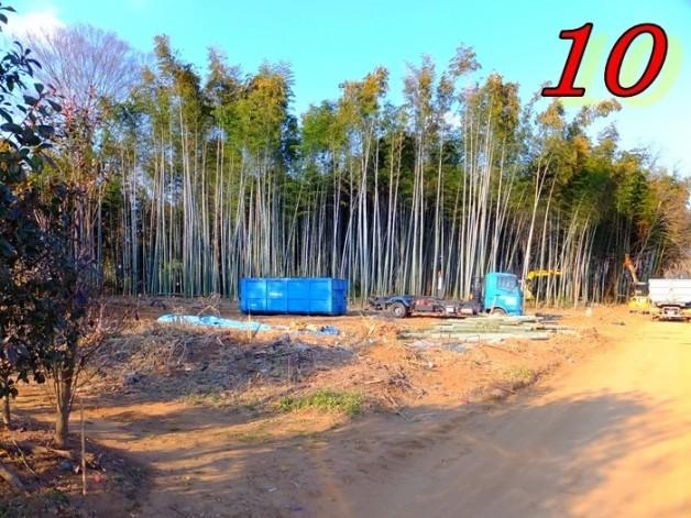 坂東パーキングエリア建設伐採