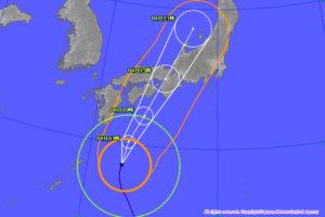 台風21号の大阪上陸は4日のいつ何時なのか?