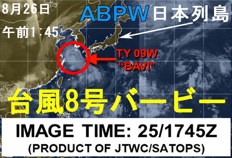 米軍JTWCバービー進路予想図