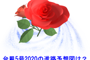 台風5号2020年チャンミーの進路予想図