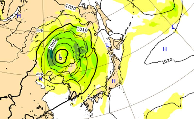 9月8日には中国大陸へ上陸する台風10号