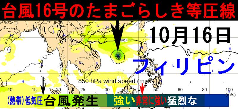 ECMWF16号ナンカ-2020年10月16日の予報