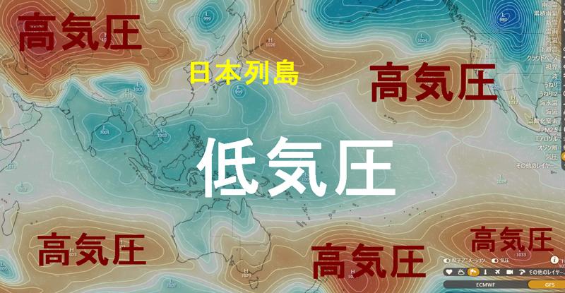 Uターン台風2020年の理由は高気圧か