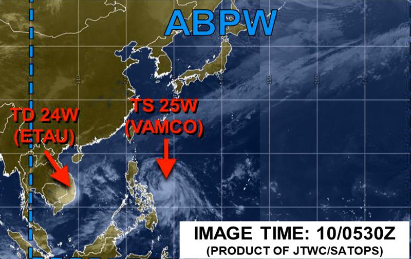 米軍JTWC衛星画像10日の午後2時30分現在