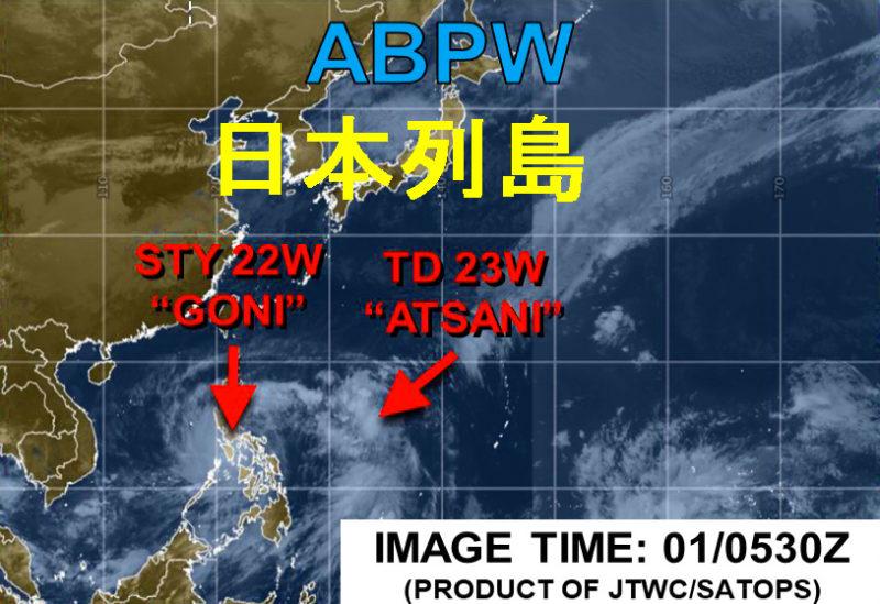 米軍JTWC台風21号11月1日の午後2時30分