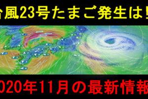 2020年の台風23号クロヴァンたまご進路予想図