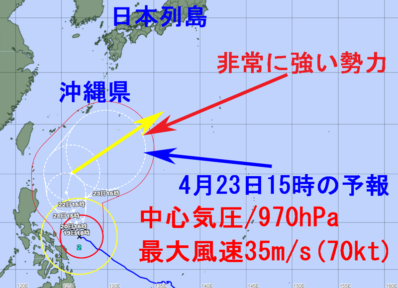 気象庁の進路予報図