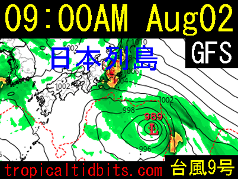 tropicaltidbits.com2021年8月2日の午前9時