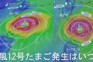 2021年の台風12号たまご発生